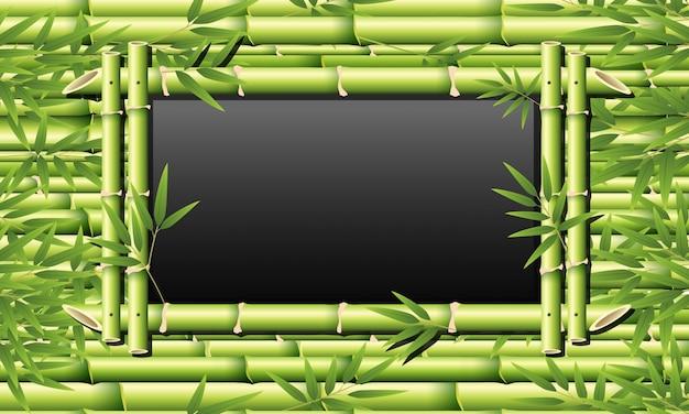 Bamboeframe voor schoolbord