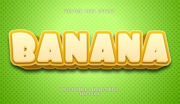 Banaan bewerkbare teksteffectstijl