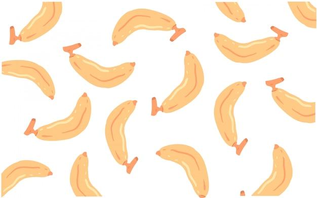 Banaan doodle patroon