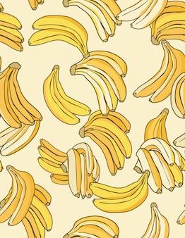 Banaan gele patroon crème