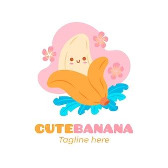 Banaan karakter logo sjabloon