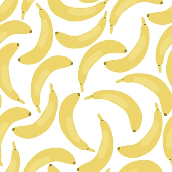 Banaan naadloze patroon geïsoleerd op een witte achtergrond