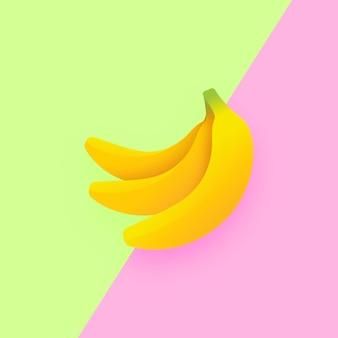 Bananen pop duo kleur achtergrond