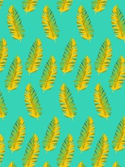 Bananenblad naadloos patroon