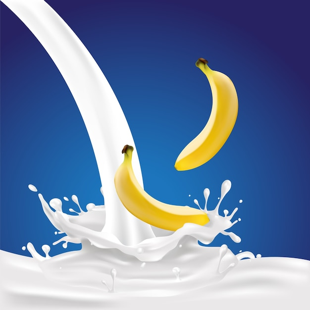 Bananenmelk splash.