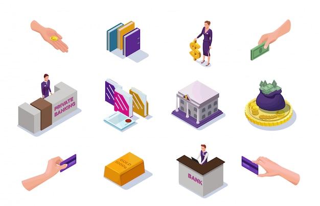 Bancaire en financiële pictogrammen