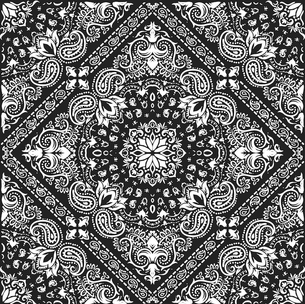 Bandana patroon bloemen