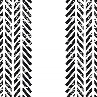 Bandensporen over witte vectorillustratie als achtergrond