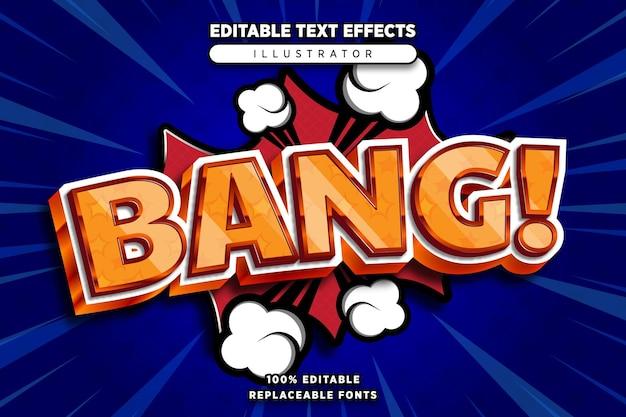 Bang teksteffect bewerkbaar in komische stijl