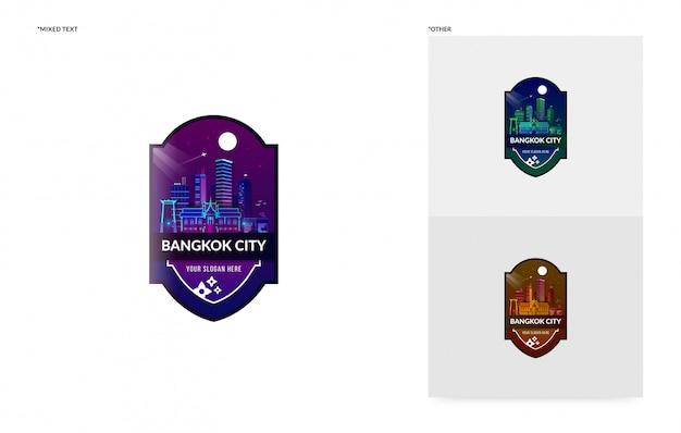 Bangkok badge sjabloon