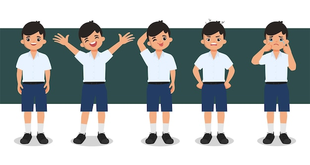 Bangkok thailand student karakter animatie.