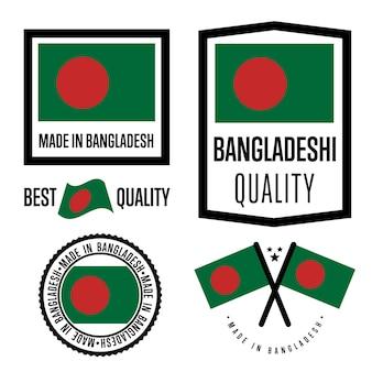Bangladesh kwaliteitslabel set