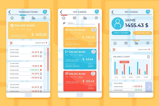 Bank app-interface thema