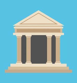 Bank gebouw geldsymbool pictogram