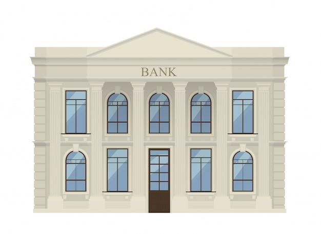 Bank gebouw pictogram geïsoleerd