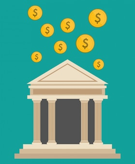 Bank gebouw valuta dollar