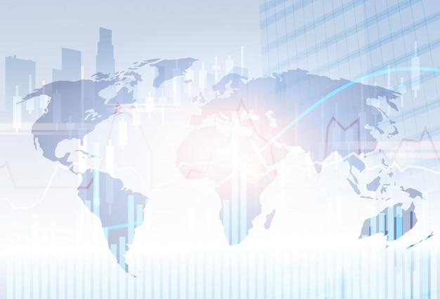 Bankbedrijf zakelijke banner financiën besparingen abstracte silhouet stad achtergrond
