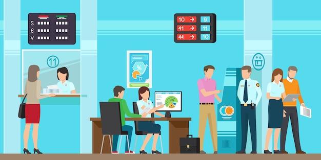 Bankdiensten van alle soorten vectorillustratie.
