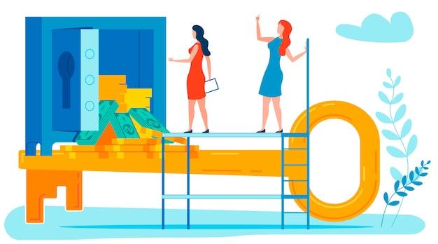 Bankgeheim metafoor platte vectorillustratie