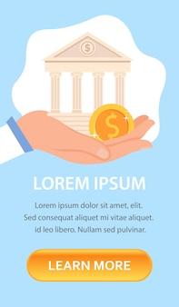 Bankieren zakelijke platte banner vector sjabloon