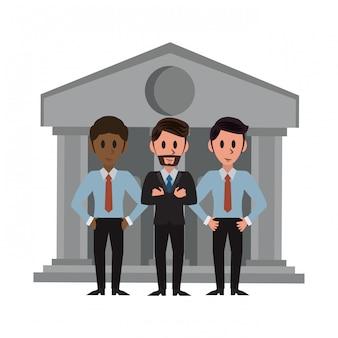 Bankiers over bankgebouw