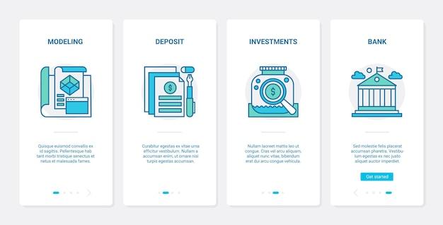 Bankinvesteringen en financiële deposito's