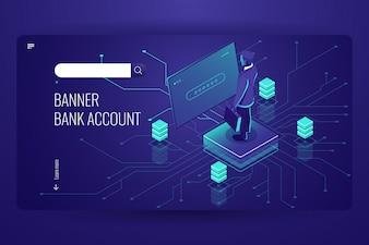 Bankrekening, online boekhoudservice, toegang tot gegevens, kunstmatige intelligentie