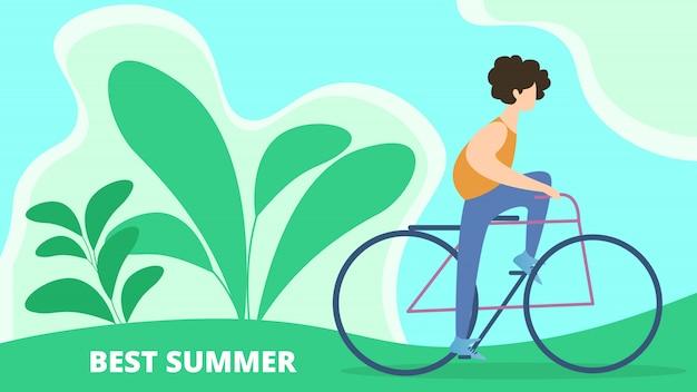 Banner beste zomer vakantie cartoon