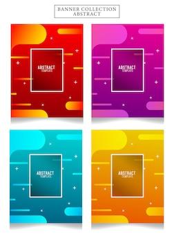 Banner collectie abstracte vectorillustratie. geschikt voor uw advertenties