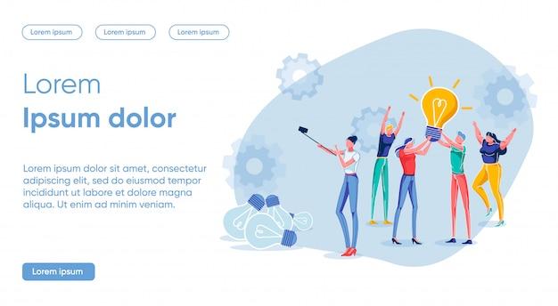 Banner concept nieuw concept helder idee