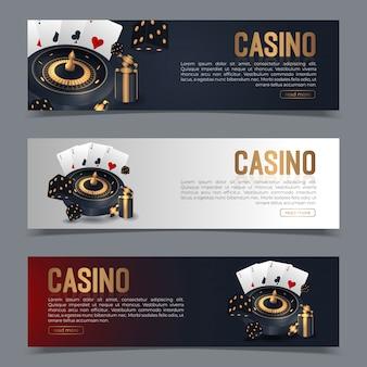 Banner ingesteld op een casino-thema.