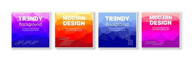 Banner instellen collectie folder van abstracte driehoekige