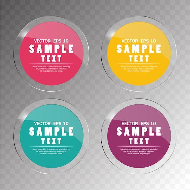 Banner instellen kleurrijke glas cirkel abstract