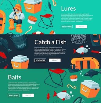 Banner instellen met cartoon vissen