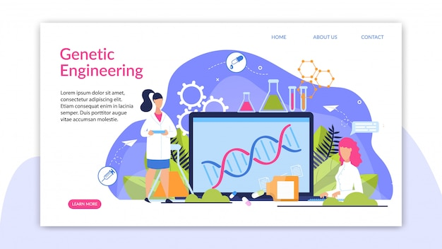 Banner is writing genetic engineering cartoon.
