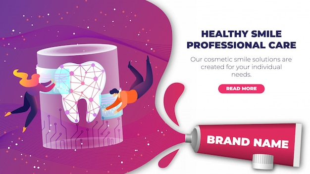 Banner is written healty smile professional care.
