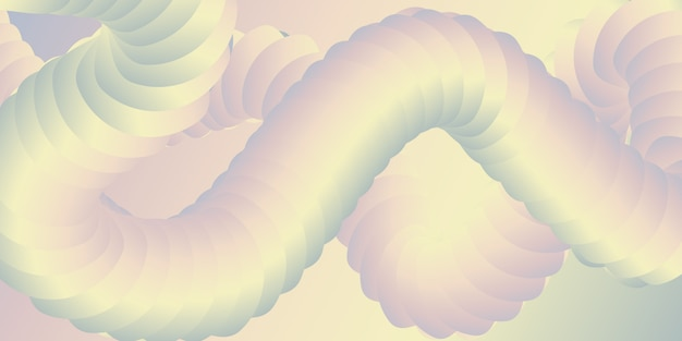 Banner met een abstract 3d-blend-ontwerp