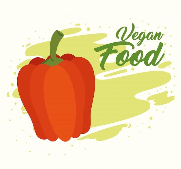 Banner met groenten, concept veganistisch eten, met verse peper