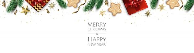 Banner met kerstballen en sterren