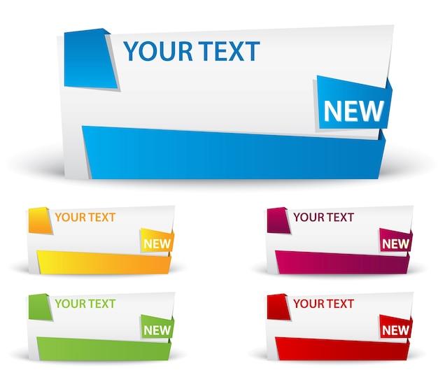 Banner met lint grote ruimte voor uw reclame