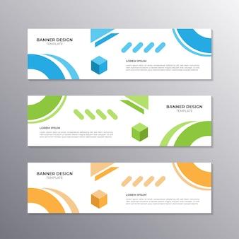 Banner met minimaal ontwerp, coole geometrische business