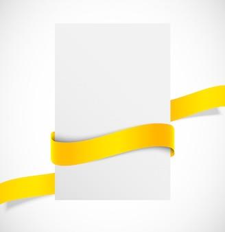 Banner met oranje lint