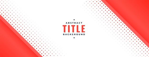 Banner met rode diagonale vorm en halftoon