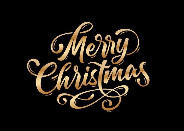 Banner met scripttekst vrolijk kerstfeest