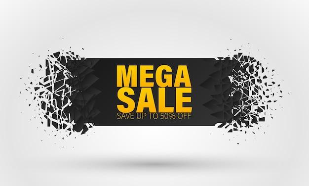 Banner met speciale aanbieding voor grote verkoop