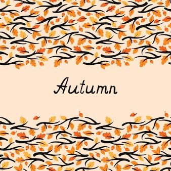 Banner met tak en bladeren