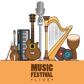 Banner muziekfestival live