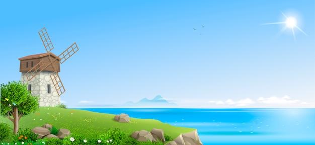 Banner natuurlijke fantasie landschap