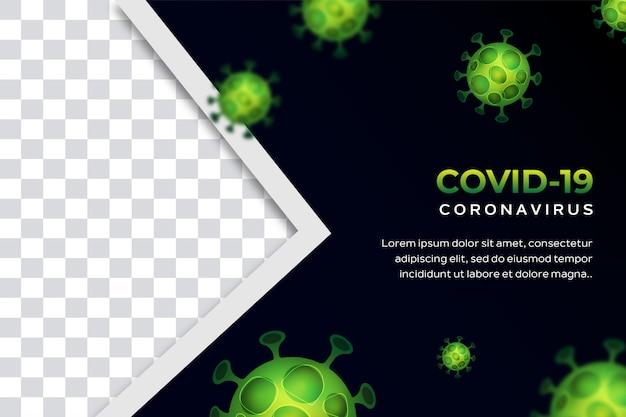 Banner of poster coronavirus achtergrond concept