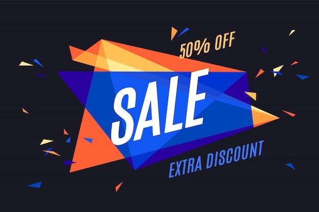 Banner ontwerp explosie elementen voor verkoop thema, winkel, markt